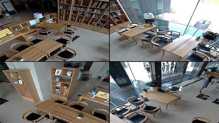 Панорамная видеокамера Ezviz Mini Pano. Отображение 4 виртуальных окон.